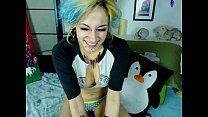 cute punky camgirl flirting on live webcam