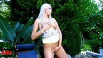 Pornstar little blonde Teena Lipoldino stripping in the jungle Vorschaubild