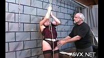 Taut pussy bizarre bondage in home xxx video thumbnail