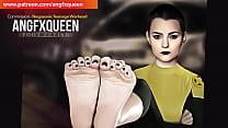 NEGASONIC TEENAGE WARHEAD wrinkled soles toes