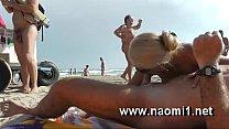 naomi blowjob on public beach