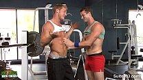 Sexy jocks fuck in the gym pornhub video