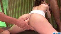 Dazzling threesome scenes along sensual Yura Kasumi Preview
