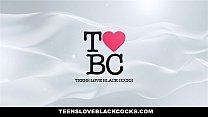 TeensLoveBlackCocks - Busty Karlee Grey Worships Monster Black Cock - 9Club.Top