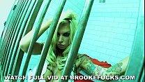 masterbates jail in banner Brooke