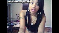 Light skinned ebony teen booty poppin' on webcam