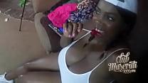 Screenshot Sexy ebony gets  fucked and creampie ampie