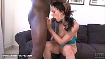 Hardcore interracial anal sex this babe gets black cock in her butt