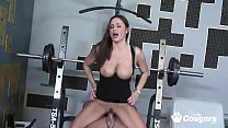 MILF Sky Taylor Works Her Pussy Out At The Gym thumbnail