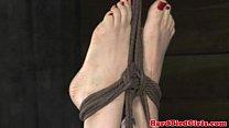 Tit bondage submissive gets punished video