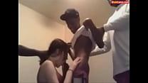White Girl and 4 Black Guys on Cam pornhub video