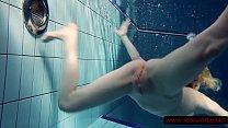 Lucie hot Russian teen in Czech pool pornhub video