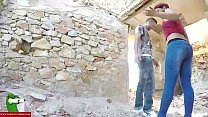 Swallowing cock and cum in a dilapidated house CRI038 video