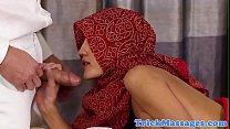 Arab beauty fucked on the massage table thumbnail