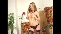 Hot blonde pussy rub image
