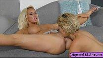 Big tits mom and pretty teen fondling and finge...