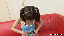 Petite and adorable Asian teen getting face spu... thumb