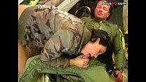 Beautiful army pilot in love - sex video
