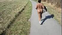 nude walk at field