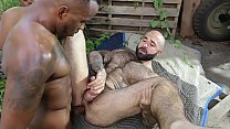 GAYWIRE - Atlas Grant Gets His Hairy, Muscular Ass Stuffed By Phoenix Fellington pornhub video