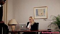 Screenshot Interracial  bosslady analized on office desk