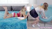 Lesbian Carter licks her tutors pussy's Thumb
