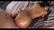 Amateur black girl slut banging a white cock in Ebony POV Video preview image