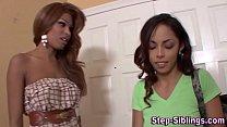 Lesbo ebony stepsis lick