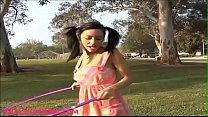 Gullibleteens.com teen hoola hoop outdoor gets fucked and face splattered
