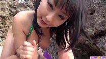 Megumi Haruka superb outdoor POV blowjob scenes...