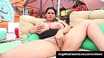 Cuban BBW Angelina Castro Mouth Fucks Cock & Fi...