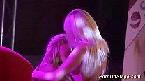 real lesbian sex on public stage Vorschaubild