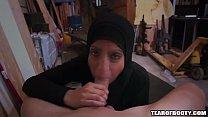 Arab teen sucks and fucks cock