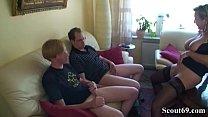 German Step Son and Friend Seduce Mom to get First Fuck Vorschaubild
