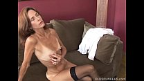 Slim old spunker in sexy stockings is feeling h...