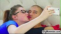 Silvia fucked by Elenas bf in threesome