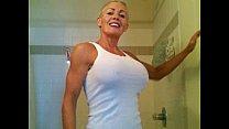 mistress deb bie in white tank top