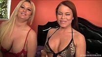 Pornstars Julie Cash and Nikki Delano fight over cock