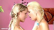 Beautiful blondes Paula and Aloha lesbian fun i...