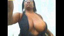 Ebony show BIg tits and big pussy in Webcam