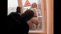 Sexy blond MILF takes a black cock thumbnail