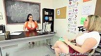 Teacher Angelina Castro teaches Maggie How to T...