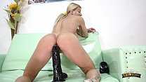 Lara De Santis - big black dildo in my little butt