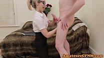 dick nudists sucking babe cfnm spex British