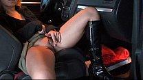 Polish bitch fucked at a car parking