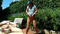 French Milf Julia Gomez in pantyhose, pissing, sucking, teasing and fucking