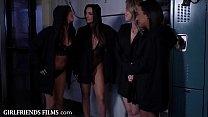 GirlfriendsFilms Sorority Step-Sisters Initiate Pledges with Scissoring's Thumb