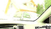 EBONY WIFE GIVES BLOWJOB PLEASURE IN CAR !! thumbnail