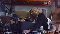 Sexy milf gets screwed in storage room