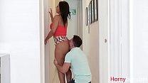 Dirty Latina MOM locks DAD and fucks SON- Rose Monroe - download porn videos